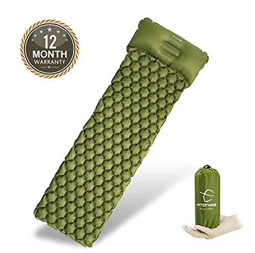 Backpack Sleeping Pad | Lightweight Camping Sleeping Bag Pad | Ultralight & Compact & Inflatable Air Mattress Pad-Insulated Air Mat | for Camp,Backpacking,Hiking,Scouts,Travel -