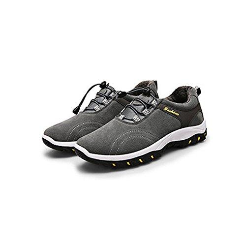 Herren Sneaker Atmungsaktiv Sneakers weichem Mesh-Klettern Schuhe Ultraleichte Wandern Schuhe Sport Grau