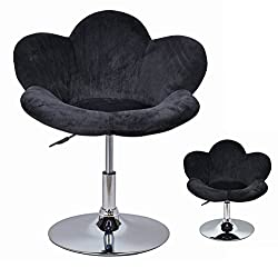 "1x Barhocker ""Blume"" Schwarz in Blumenform Lounge Sessel Barsessel Clubsessel Cocktailsessel Drehsessel"