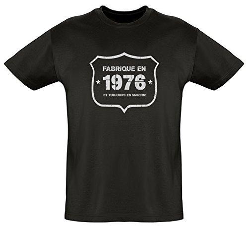 Tee shirt Coton Bio Fabriqué en 1976 impression vintage Homme
