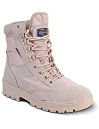 Mens Desert Boots Army Combat Military Patrol Tan Work Lightweight Suede Leather Boot