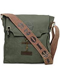 The House Of Tara 100% Cotton Canvas Messenger bag in Distress Finish