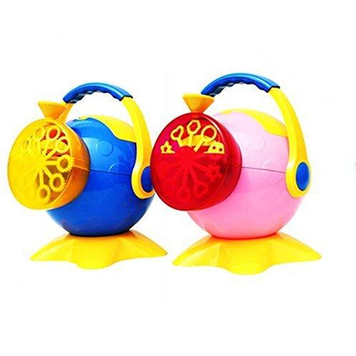 Trendario Seifenblasenmaschine (blau) in buntem Design für Kinder & Erwachsene, die bessere Seifenblasenpistole für mehr Seifenblasen - Elektrische Seifenblasen-Kanone - ideal für Hochzeit, Deko, Kindergeburtstag