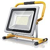 Brandson - 50W LED Baustrahler | Arbeitsscheinwerfer | Bauscheinwerfer | LED Fluter mit 4800 Lumen | Für den Innen- und Außenbereich | Gelb
