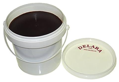 DELARA Lederbalsam mit hochwertigem Bienenwachs, Lederpflege, die das Leder weich, geschmeidig und atmungsaktiv macht. Braun, 500