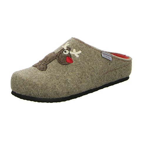 TOFEE  Hausschuh Rudolph, Chaussons Mules femme Marron - Marron