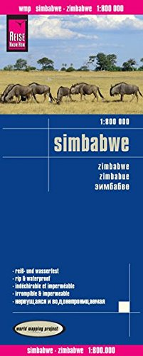Preisvergleich Produktbild Reise Know-How Landkarte Simbabwe (1:800.000): world mapping project