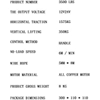 2020 12v / 24v Torno Eléctrico Aparatos De Elevación De ATV, Vehículos Todo Terreno, Remolques De Auto-rescate De La Fuerza De Tracción 3500 Libras, Control Remoto Inalámbrico Es Apto For Vehículos, D