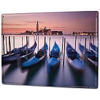 Blechschild Fernweh Stadt Venise Italien