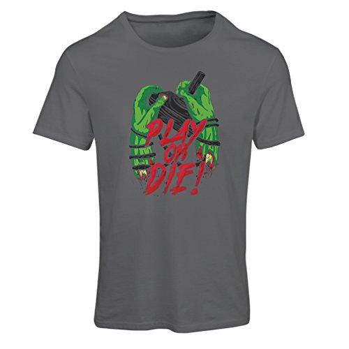 Frauen T-Shirt Spielen oder sterben - nur für Spieler! (Small Graphit Mehrfarben)