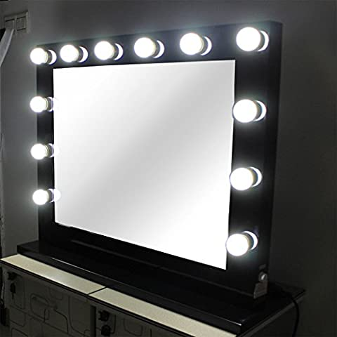 Chende Black Hollywood Makeup Mirror with lights Vanity Lighted Beauty