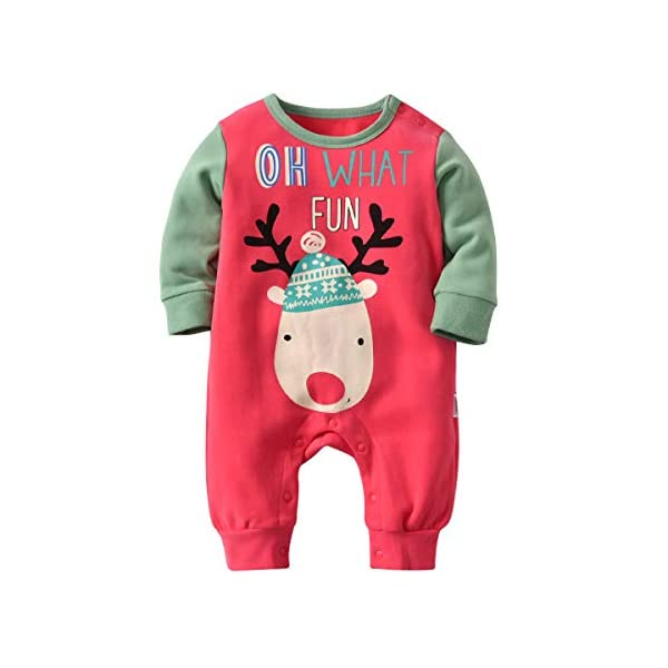 Recién Nacido Pijama Bebés Algodón Niños Niñas Espesar Sleepsuit Navidad Trajes 0-24 Meses 1