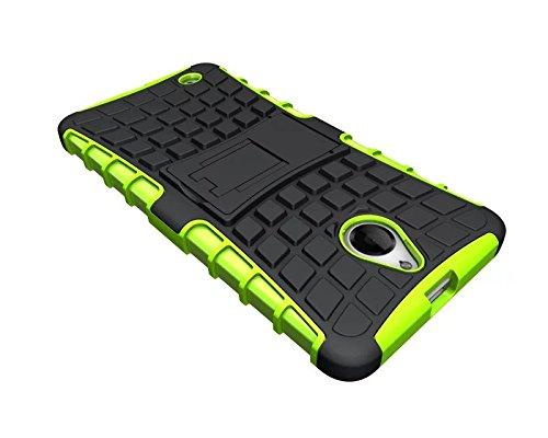 YHUISEN Lumia 850 Case, Reifenmuster Dual Layer Rüstung Schock Absorbierende Schutzhülle Mit Kickstand Für Microsoft Lumia 850 ( Color : Green ) Green
