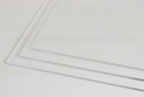 500mm x 1000mm Clear Acrylic Perspex Plastic Sheet - 2mm, 3mm, 4mm, 5mm, 6mm, 8mm, 10mm Thicknesses (2mm Thick) by Perspex