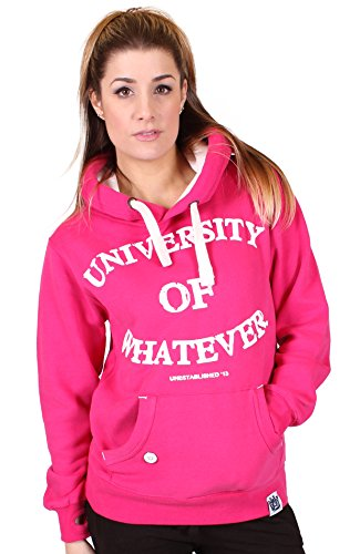 University of Whatever Premium Damen Hoodie Unestablished Original Geißblatt Rosa