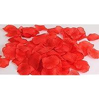 Seta di 100pcs GODHL rosa petali matrimonio partito tabella Home decorazioni fiori (rosso)