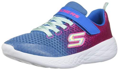 Skechers Mädchen Go Run 600-sprinkle Splash Sneaker, Blau (Blue Neon Pink Blnp), 35 EU (Sprinkles Pink Glitter)