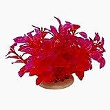Beito Kunststoff Aquarienpflanzen Aquarium Dekoration, Rot/Lila
