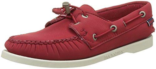Sebago Docksides, Chaussures Bateau Femme Rouge (Red Ariaprene)