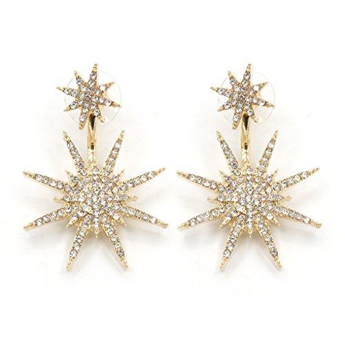 LUFA 1 paire de boucles d'oreilles double flocon de neige étoiles pour les femmes Femme Big bijoux classiques
