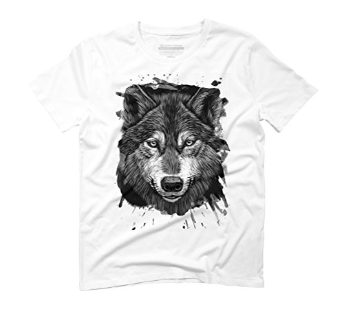The Wolf 2 Men's Graphic T-Shirt - Design By Humans White