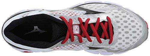 Mizuno Wave Connect, Laufschuhe für Herren Multicolore - White Black/Chinese Red