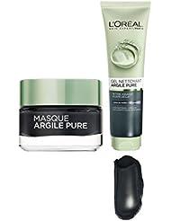 L'Oréal Paris Routine Visage Detox Teint Eclatant à base d'Argile et de Charbon