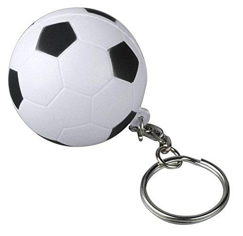 Fußball Schlüsselanhänger Ø 40 cm 6 Stück | Fanartikel Mitgebsel für Kinder Werbeartikel Anti Stress Ball