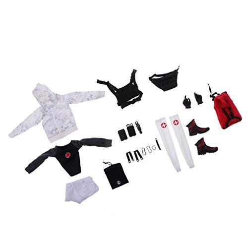 Weibliche Team Anzug (Homyl 1/ 6 Frauen Stadt Rettungsteam Kampfkleidung Anzug Für 12 Zoll Weibliche Aktion Figuren Zubehör)