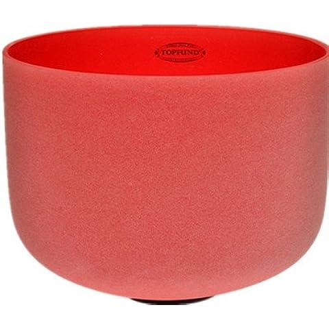 Rosso Campana di cristallo di quarzo C nota di musica radice chakra 30 cm