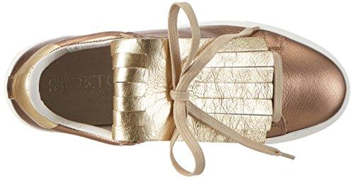 Stokton 653-d, Scarpe da Ginnastica Basse Donna Oro (Rame+ Platino)