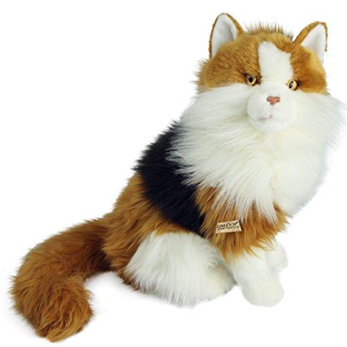 Katze dreifarbig ca. 31 cm Plüschtier Kuscheltier Stofftier Plüschkatze 129 von Zaloop®
