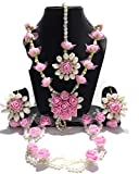 Best Necklace  2 - Shivi Jewels Non-Precious Metal Traditional Pink Flower Floral Review