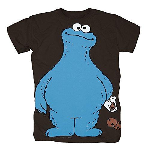 TSP Sesamstrasse - Krümelmonster Cookie Thief T-Shirt Herren XXL Braun