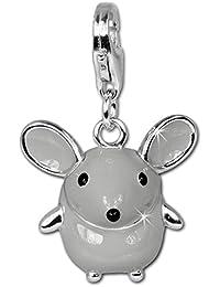 SilberDream Charms–Charm ratón en plata de ley 925, no se empaña–especialmente para encanto pulsera, collar y pendientes–para MUJERES–FC612