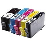 Set de 5 Haute Capacité 100% Compatible cartouches d'encre pour HP 364XL Multipack...