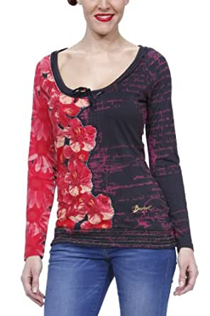 Desigual DES2538 langarm T-Shirt Shirt Chloe 27T2538 rot, Größe:XL