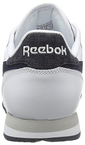 Reebok Classic Leather Pop, Scarpe da Ginnastica Uomo Bianco (White (White/Faux Indigo/Steel))