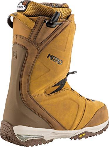 Nitro Snowboards Herren Team TLS \'19 Premium Snowboardschuh Snowboardboot mit Schnellschnürsystem Highend Freestyle Freeride Carving Softboot Boots, Two Tone Brown, 28.0