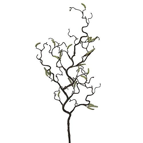 """Deko-Ast Korkenzieherhasel \""""Colurnis\"""", in Braun mit Grün, aus Kunststoff, Länge 67 cm"""