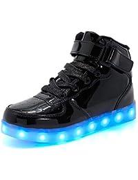 f8589bd8 Kimily Unisex Niños Niñas Zapatos Zapatillas de LED USB Carga Hight-Top Luz  Luminosas Flash