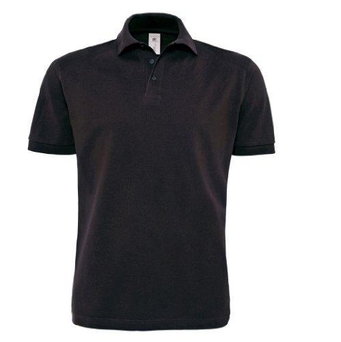 Piqué Polo Shirt 'Heavymill' Black