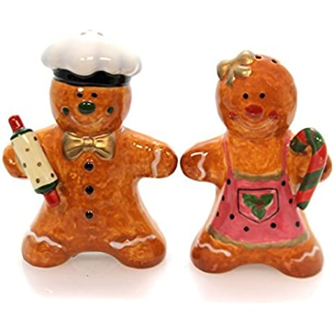 Male and Female Gingerbread Cookie Salt and Pepper Shakers by Cg