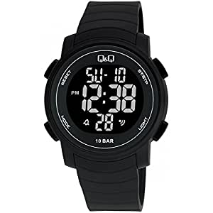 Q&Q Digital Black Dial Men's Watches - M122J001Y