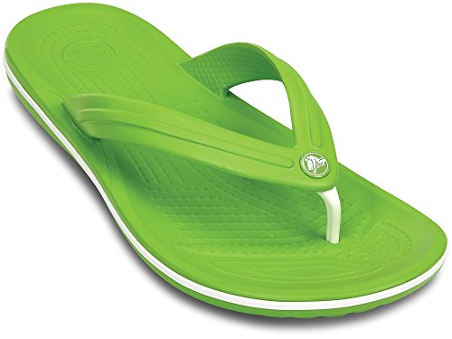 CROCS Schuhe - Zehentrenner CROCBAND FLIP - volt green white, Größe:41-42