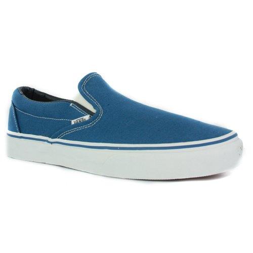 Vans Classic Slip-On, Baskets Basses Mixte Adulte, Noir Lavé Bleu (Navy)