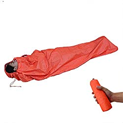 SOLVHK Saco de Dormir Saco de Dormir de Emergencia Ultraligero Saco portátil Primeros Auxilios Mantener Caliente Impermeable Momia Reflectante Saco de Dormir de Supervivencia Individual