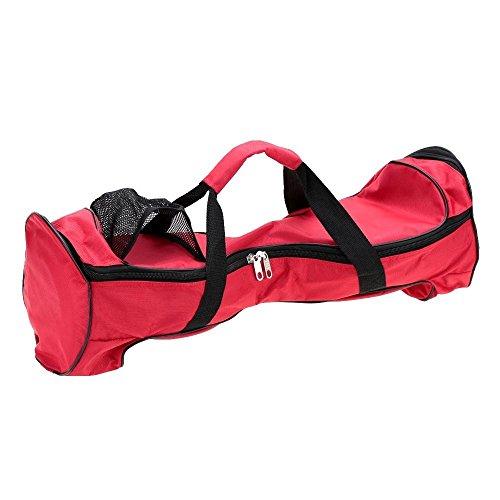 25,4cm tessuto impermeabile oxford hoverboard borsa zaino di due ruote scooter bag portable durevole drifting board smart balance board monopattino borsetta borsa di stoccaggio (hgj25), red