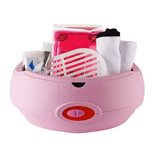 Forever Speed Calentador de parafina baño Cera de parafina Calentamiento Rápido y accesorios parafina Starter Juego de color Rosa