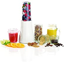 Tribest- Batidora de vaso Sin BPA, 200W, ligera, práctica y comoda - PB350: batidora, 2 cuchillas, 5 vasos, 1 jarrita y tapes para llevar